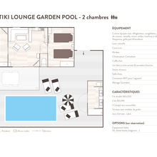 Map of our Tiki Lounge Garden Pool 2 bedrooms